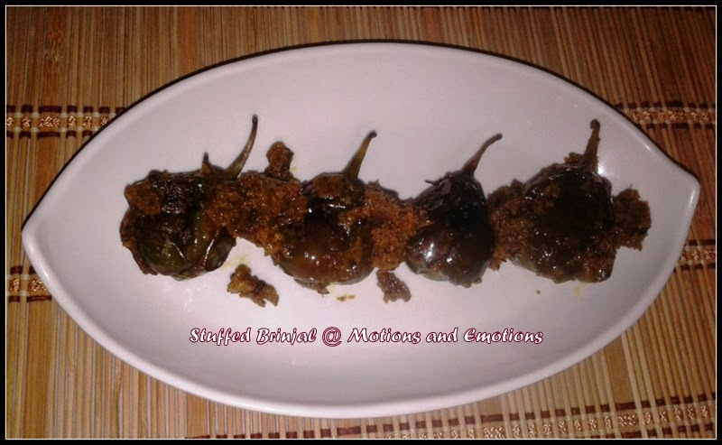 Bharwan Baingan or Stuffed Brinjal or Purbhora Begun