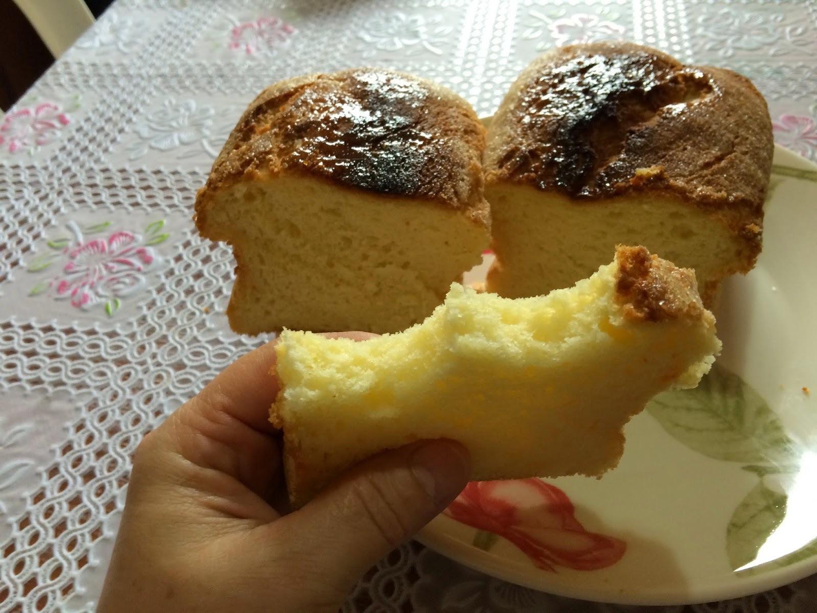 Pão de milho verde sem ovos