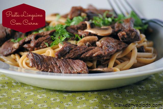 Pasta Linguine Con Carne