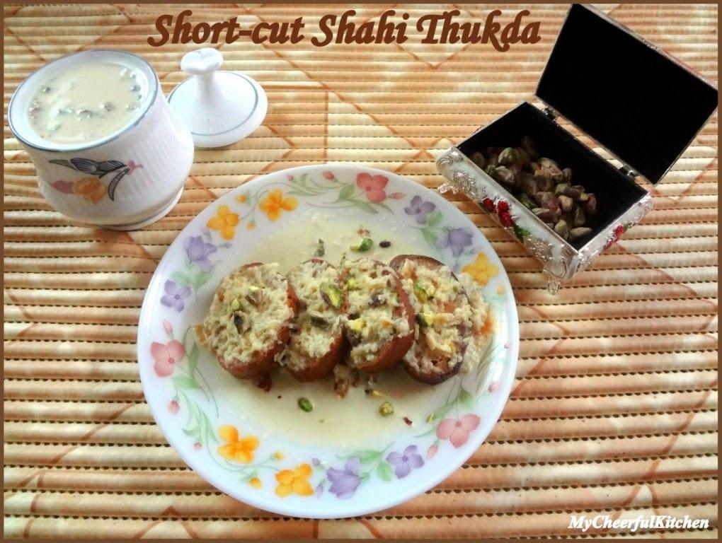 Short-cut Shahi Thukda with Apple Rabdi