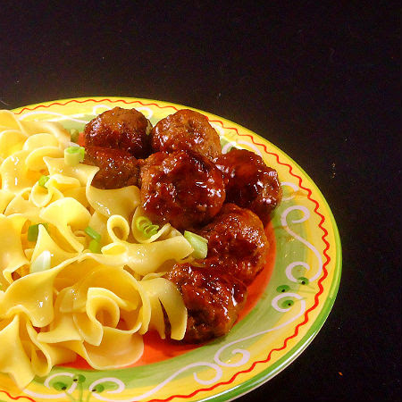 Frugal Foodie Friday - Glazed Sweet and Spicy Meatballs