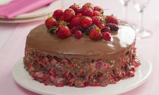 recheio para bolo de nata com morango