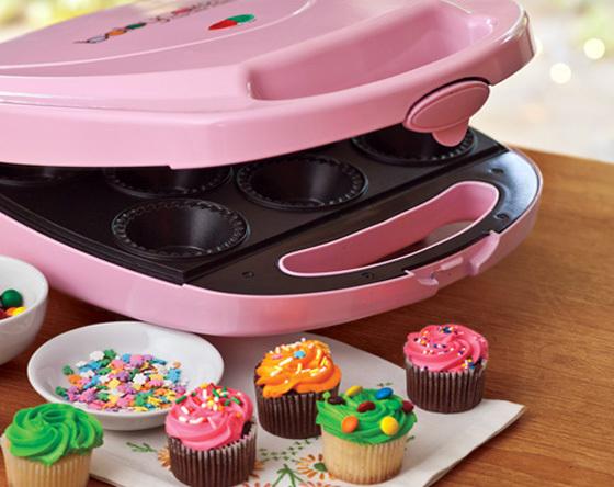 de cupcake de morango de liquidificador