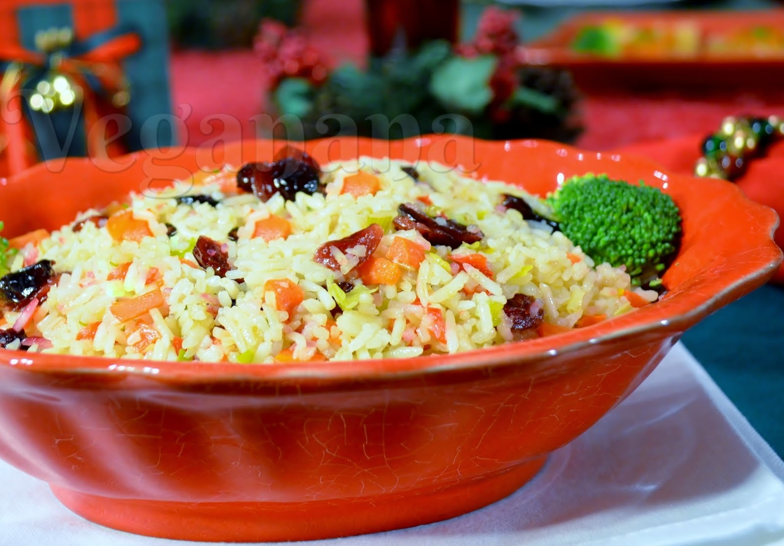 Arroz com Legumes e Cranberries