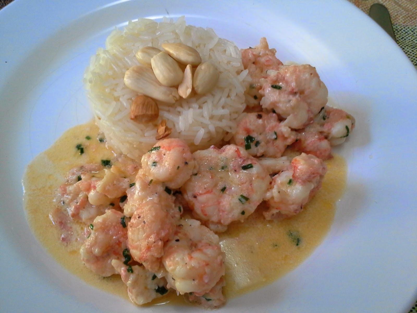 arroz com lagostim