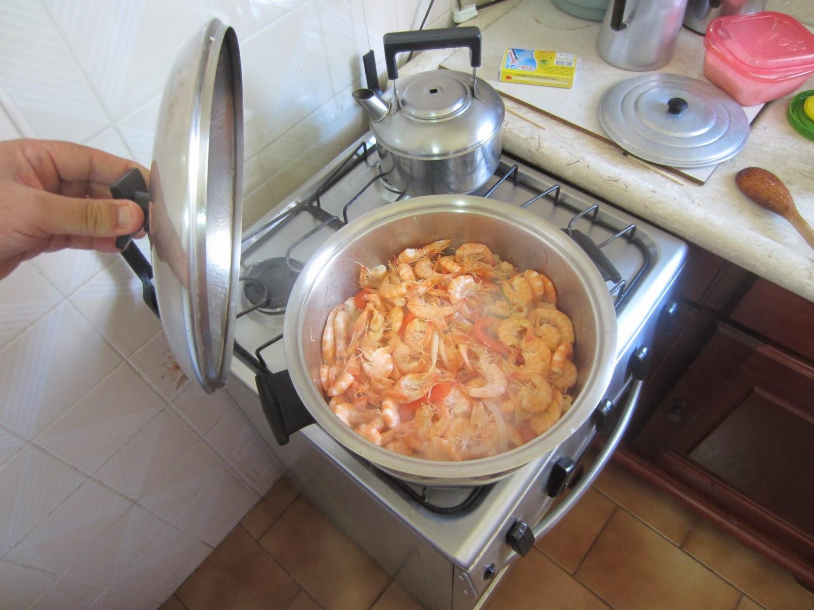 acompanhamento para camarão ao bafo