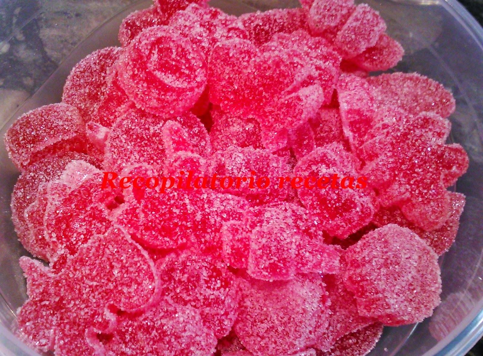 Gominolas de fresa con  thermomix
