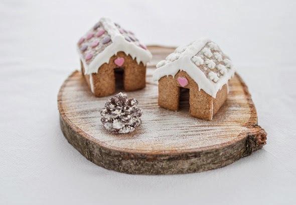 Recetas de Navidad - Casitas de jengibre en miniatura