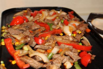 Carne com Legumes na Chapa
