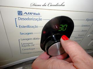Roupa seca na máquina