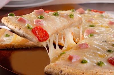 Pizza integral para a criançada