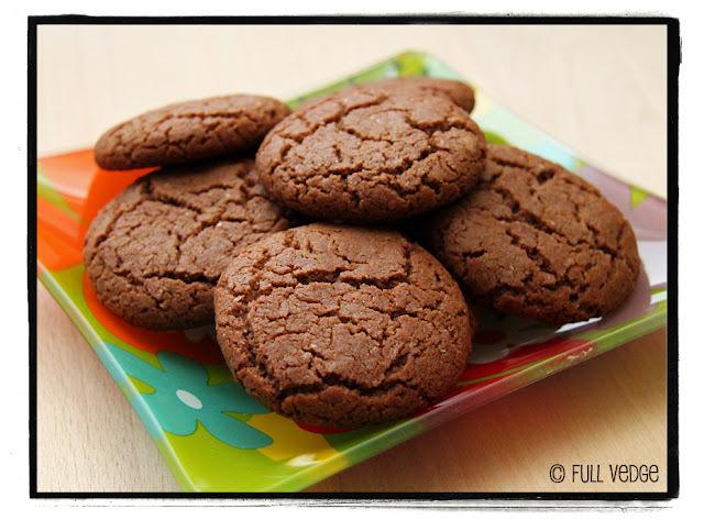 Biscuits végétaliens au chocolat