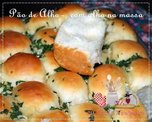 Pão de Alho crocante- Com o alho na massa