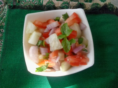 Kachumber recipe | indian onion tomato cucumber kuchumber  salad