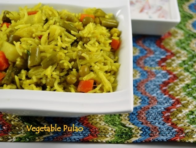 Veg Pulao | Vegetable Rice
