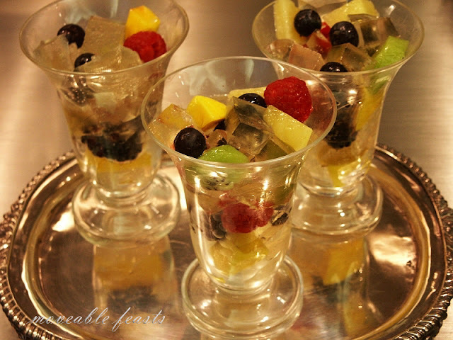 Elderflower and Prosecco Gelée with Fruit
