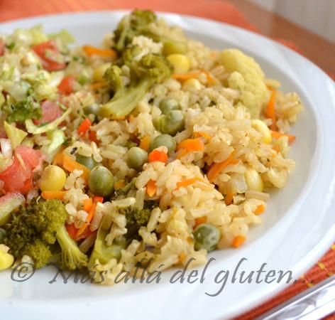 Arroz Integral con Verduras (Receta GFCFSF, Vegana, Gerson)