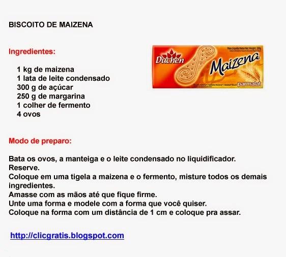 BISCOITO DE MAIZENA ORGINAL