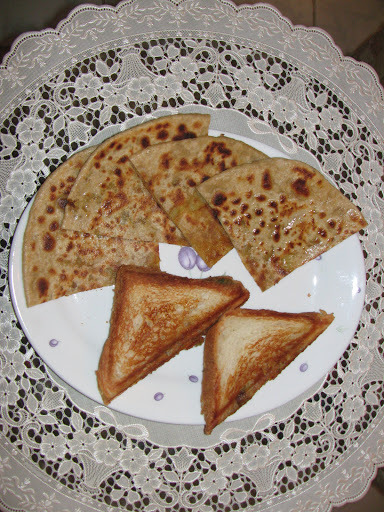 Kiddies Meal Combo 1 - Aloo Parata and Paneer Sandwich