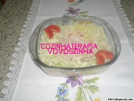 Salada de batata doce e atum