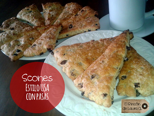 Scones Triangulares con Pasas