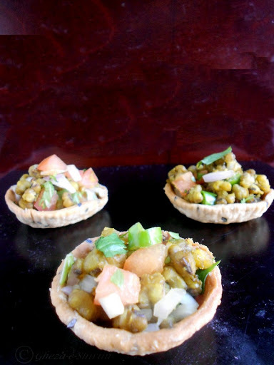 Canapes  with Peppery Moong Bean filling - Diabetic Awareness