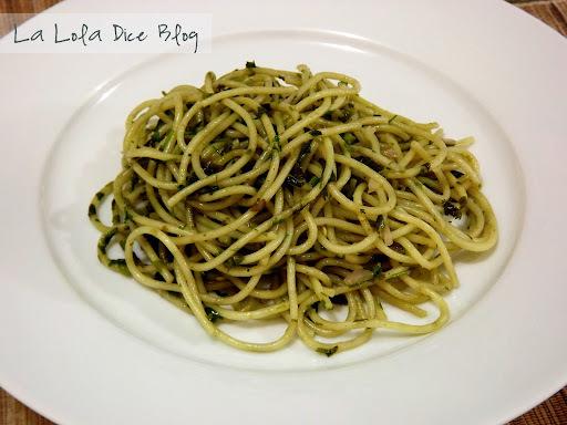 Spaguetti a la Cilantro