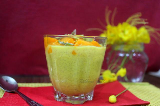 Mango Daliya Pudding