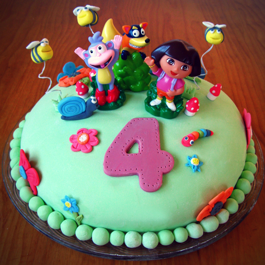 Kids' Birthday Cake: Dora the Explorer!