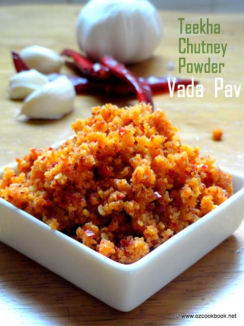 Dry Garlic(Lahsun) Chutney | Vada Pav Red Chutney ~ Teekha Chutney Powder