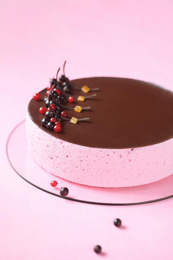 Смородиновый торт-суфле / Torta suflê de groselha