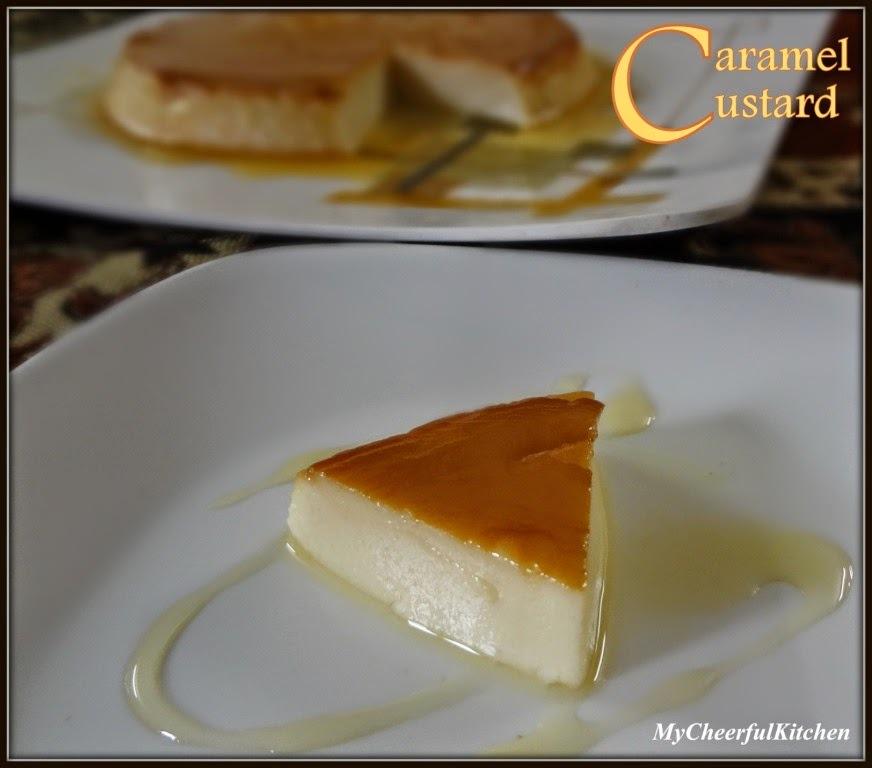 Eggless Caramel Custard  (Steamed dessert)