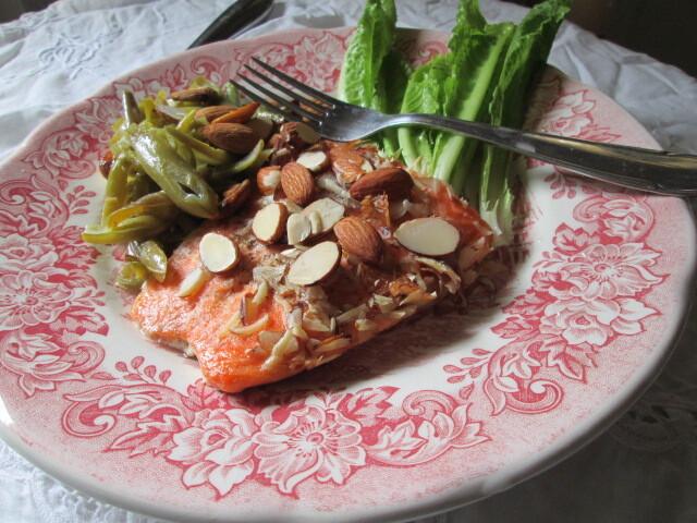 Almond- crusted Salmon (salmón con almendras )