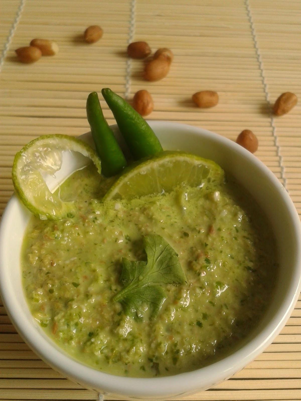 Recipe of Peanut Coriander Chutney | How to Make Peanut Coriander Chutney