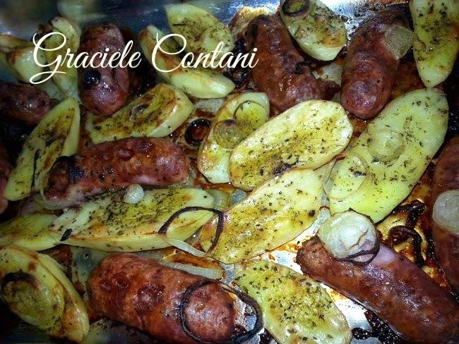 Linguiça toscana com batatas, de Graciele Contani