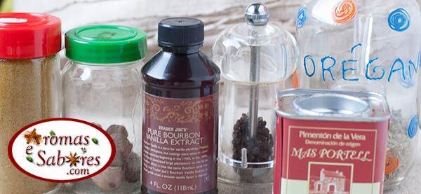 Lista de compras de especiarias e condimentos