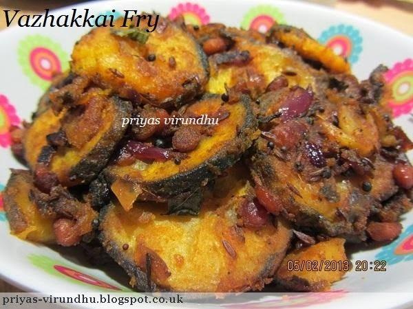 Vazhakai Fry/ Plantain Fry