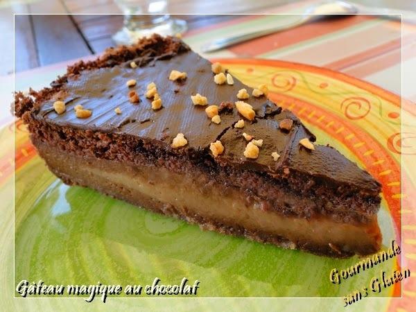Gâteau magique au chocolat, sans gluten