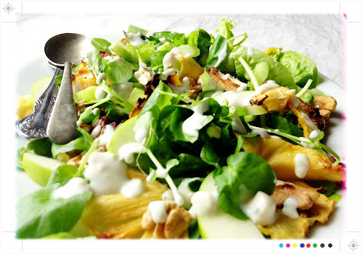 Ottolenghi's Romaine, Pineapple & Gorgonzola Salad - IHCC