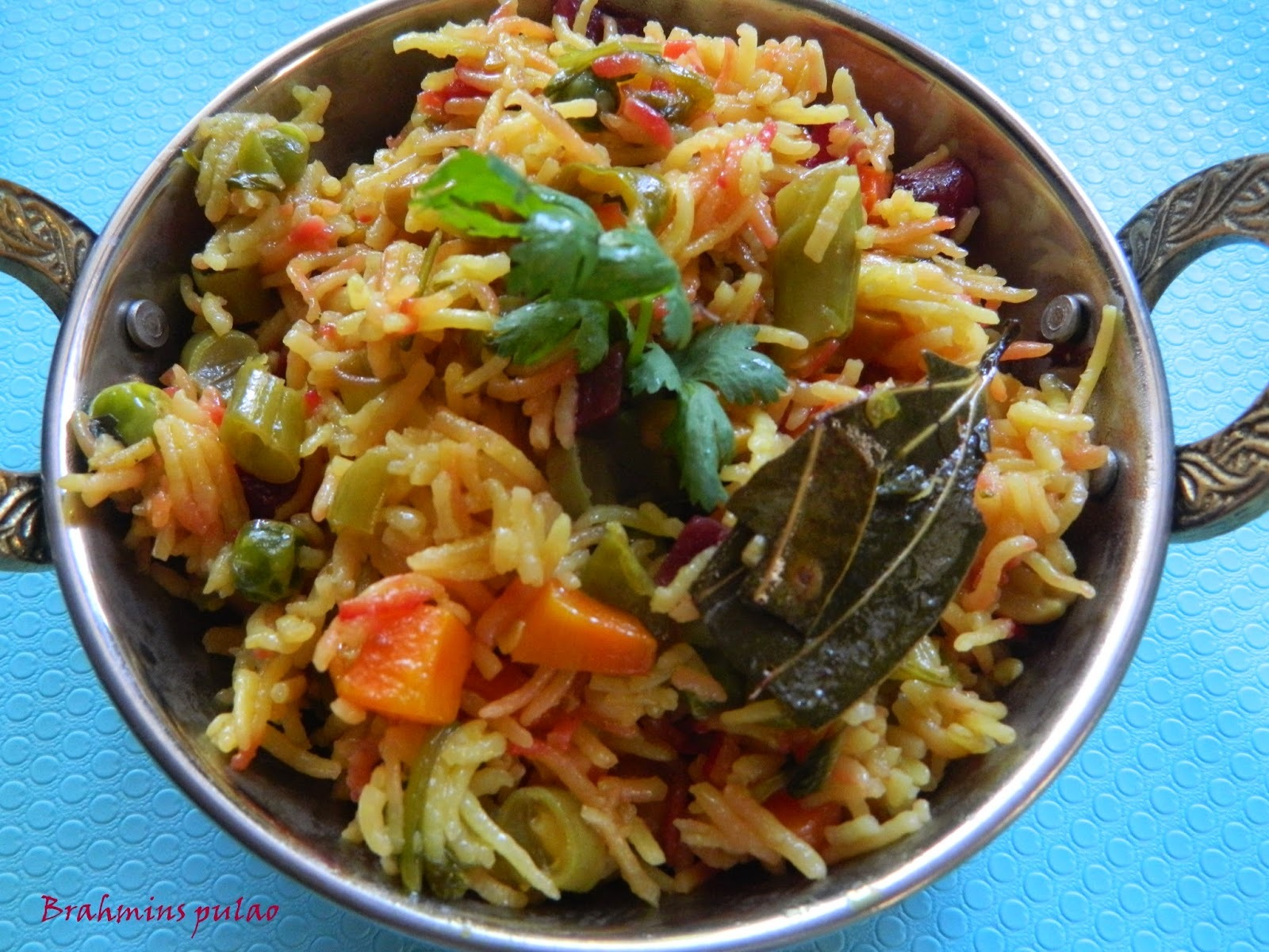 Brahmins pulao,no onion/no garlic