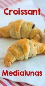 Receta de Medialunas express • Croissants express