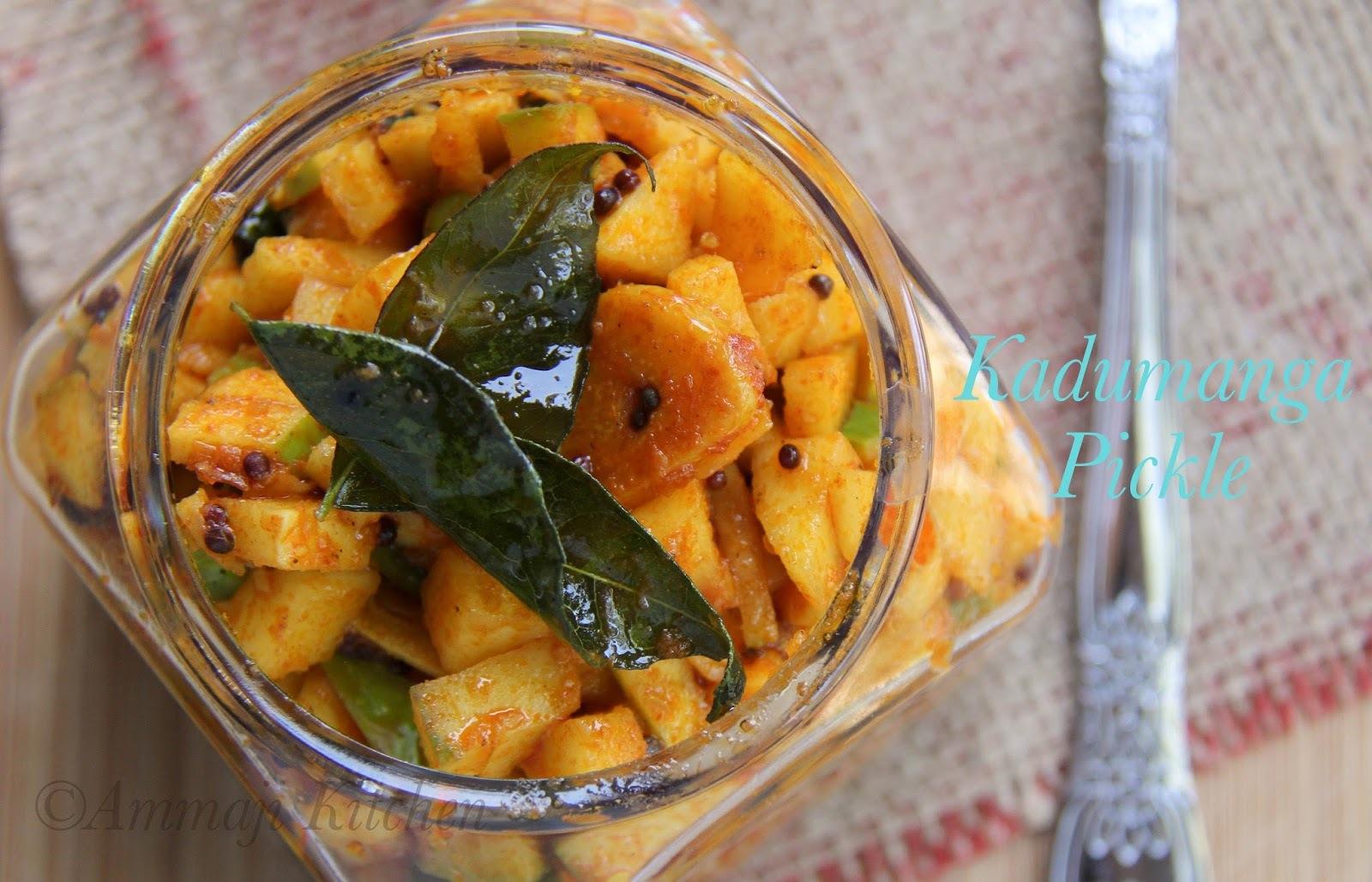 Kadumanga Achar | Kerala Mango Pickle