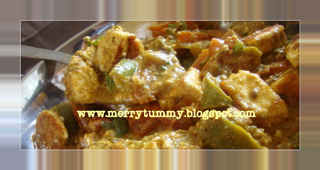 Achari Paneer (Cottage Cheese Flavored With Pickles)