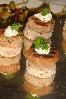 Mini-Hambúrguer de Salmão