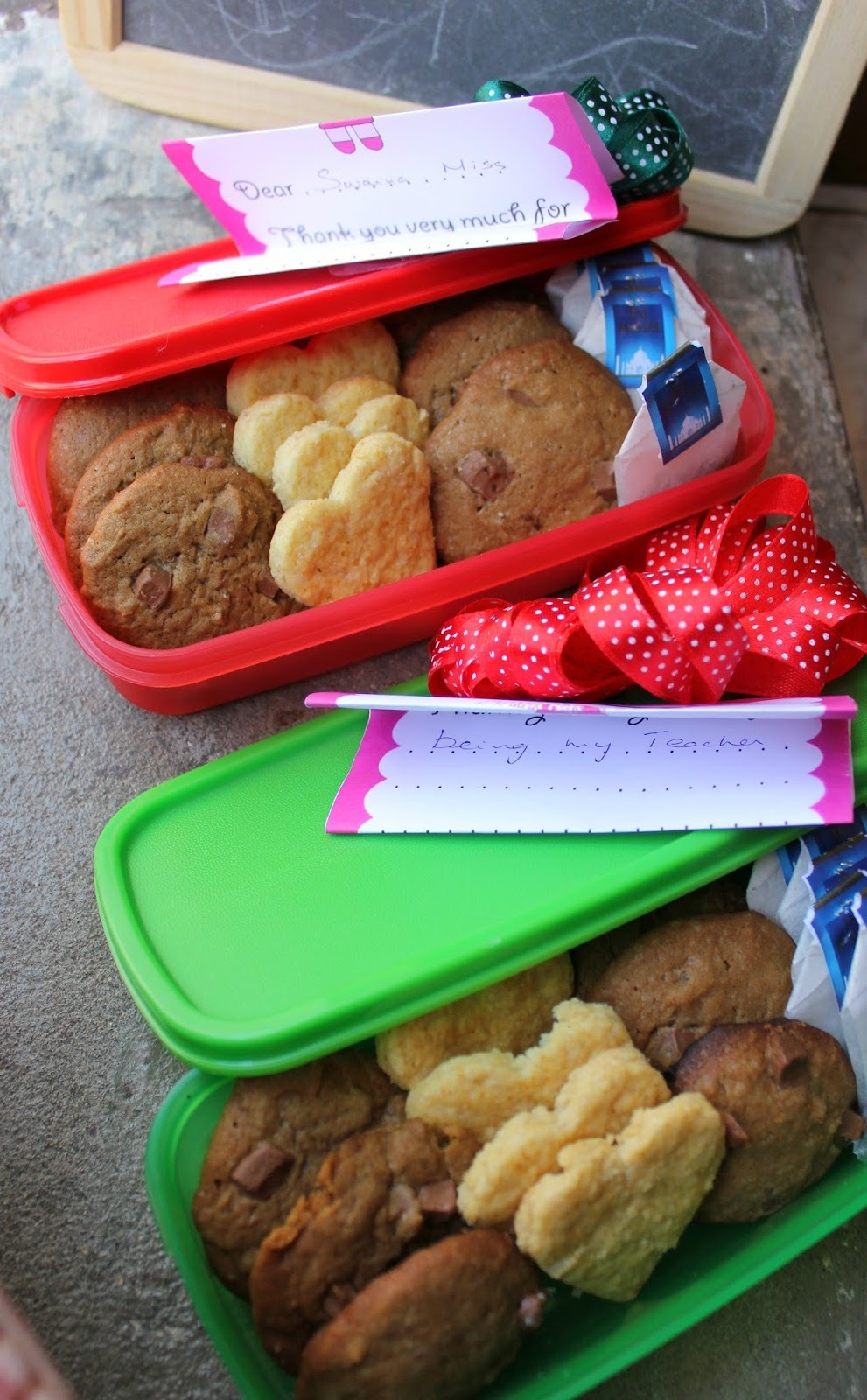 Cookie box – Choco-chip cookies & Eggless Shortbread cookies | Thank you gift for teachers