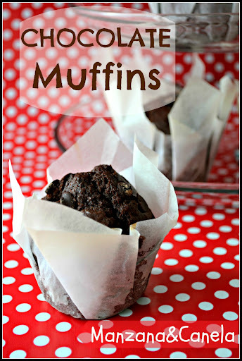 Auténticos muffins de chocolate superchocolateados