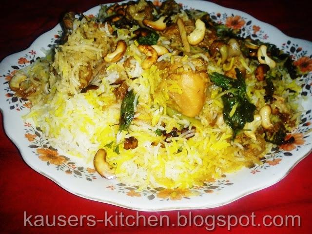 of hyderabadi chicken biryani in hindi