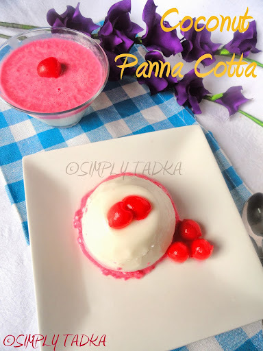 Coconut and Cherry layered Panna Cotta- SFC# 2
