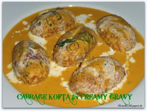 Cabbage Kofta in Creamy Gravy my 200th post