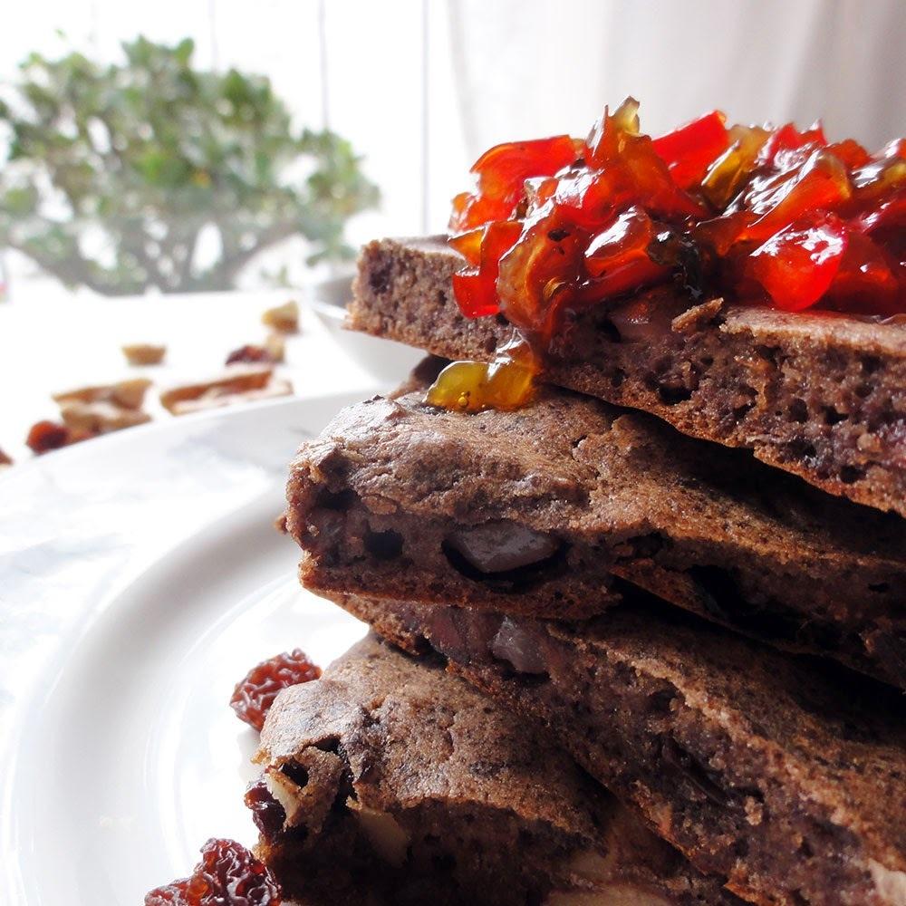 Brownies de Morcilla con Chutney de Morrones
